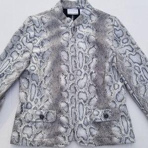 Alfred dunner 8P faux snake skin blazer